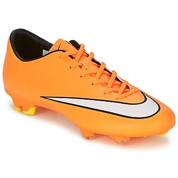 Zapatos Hombre Fútbol Nike MERCURIAL VICTORY V FG Naranja / Blanco