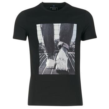 textil Hombre camisetas manga corta Armani jeans JANADORI Negro