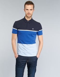 textil Hombre polos manga corta Armani jeans MARAFOTA Azul