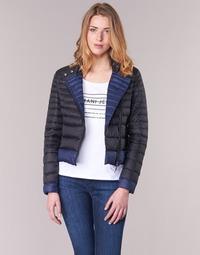textil Mujer plumas Armani jeans BEAUJADO Negro / Azul