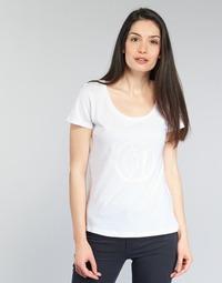 textil Mujer camisetas manga corta Armani jeans LASSERO Blanco