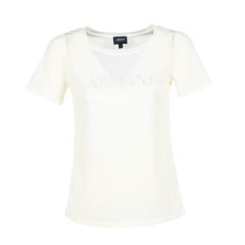 textil Mujer camisetas manga corta Armani jeans KAJOLA Blanco