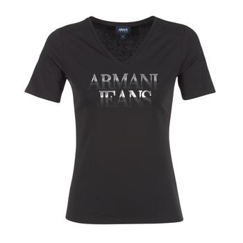 textil Mujer camisetas manga corta Armani jeans JAGONA Negro