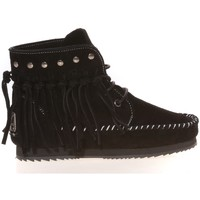 Zapatos Mujer Mocasín Ilario Ferucci Mocassin Renouee Noir Negro