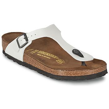 Zapatos Mujer Chanclas Birkenstock GIZEH Blanco / Nacar