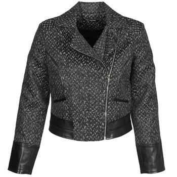 textil Mujer cazadoras Fornarina SELINE Gris / Negro