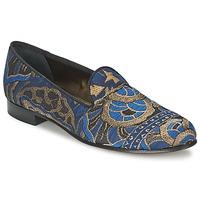 Zapatos Mujer Mocasín Etro 3046 Negro / Azul