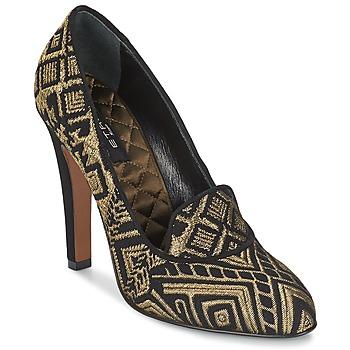 Zapatos Mujer Zapatos de tacón Etro 3055 Negro / DORADO