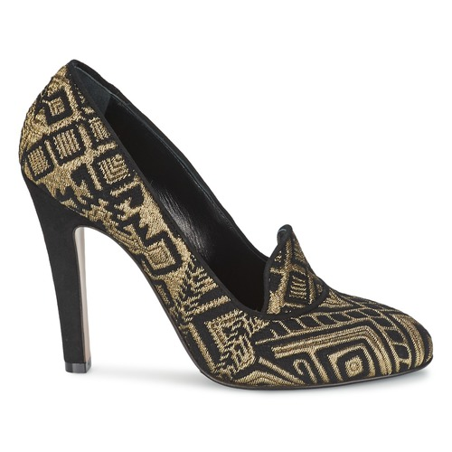 Mujer 3055 Tacón Etro Zapatos De NegroDorado thQdsrCx