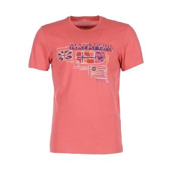 textil Hombre camisetas manga corta Napapijri VINTAGE Coral