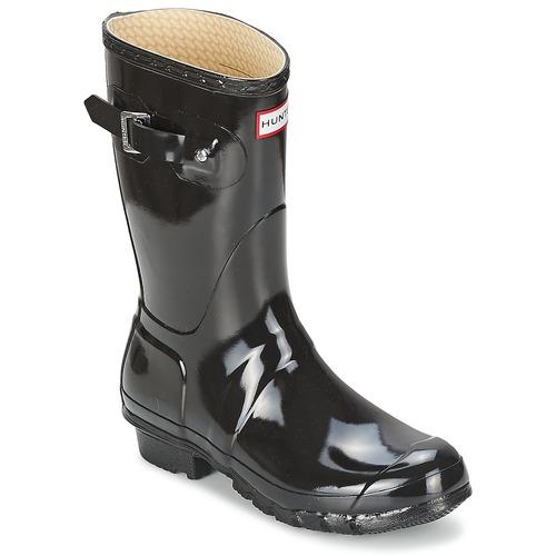 ZapatosHunter WOMEN'S ORIGINAL y SHORT GLOSS Negro  Cómodo y ORIGINAL bien parecido 5b1978