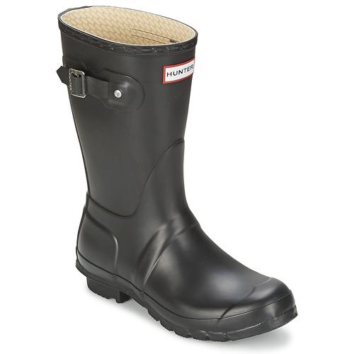 Zapatos casuales salvajes Zapatos especiales Hunter WOMEN'S ORIGINAL SHORT Negro