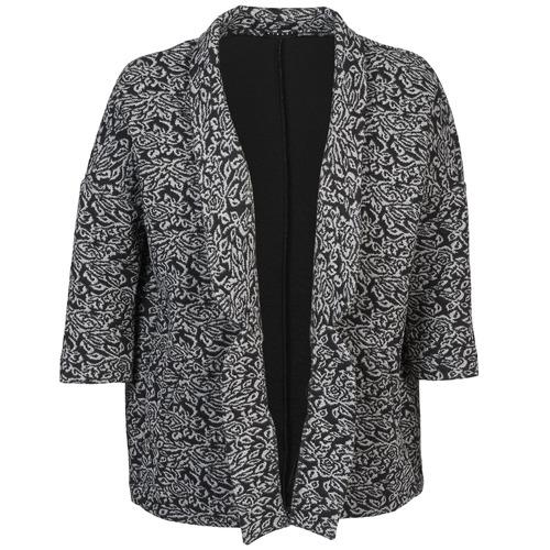 textil Mujer Chaquetas / Americana Sisley FRANDA Negro / Gris
