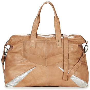 Bolsos Mujer Bolso para llevar al hombro Pieces JACE LEATHER TRAVEL BAG COGNAC / Plateado