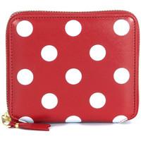 Bolsos Mujer Monedero Comme Des Garcons Cartera  en piel roja con lunares Rojo