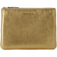 Bolsos Mujer Bolso pequeño / Cartera Comme Des Garcons Bolso de mano Wallet Comme des Garçons en piel oro Dorado