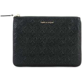 Bolsos Mujer Bolso pequeño / Cartera Comme Des Garcons Clutch Comme des Garcons wallet de piel negra Negro