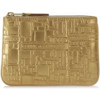 Bolsos Cartera Comme Des Garcons Bolso de mano Wallet Comme des Garçons en piel oro estampada Dorado