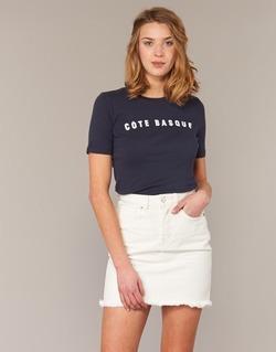 textil Mujer camisetas manga corta Loreak Mendian PAYS BASQUE Marino