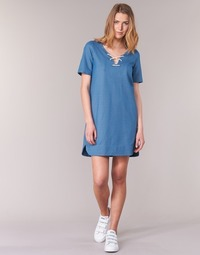 textil Mujer vestidos cortos Loreak Mendian TXANGAI Azul