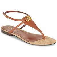 Zapatos Mujer Sandalias Ralph Lauren ANITA SANDALS CASUAL Marrón