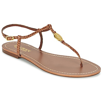 Zapatos Mujer Chanclas Ralph Lauren AIMON SANDALS CASUAL Camel