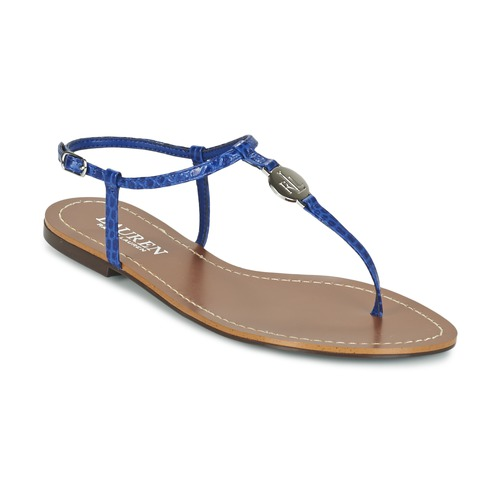 Zapatos Mujer Chanclas Ralph Lauren AIMON SANDALS CASUAL Azul