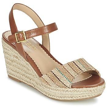 Zapatos Mujer Sandalias Ralph Lauren KEARA ESPADRILLES CASUAL Marrón / Beige