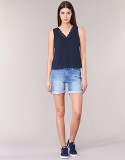 textil Mujer Shorts / Bermudas Lee BOYFRIEND SHORT Azul / Medium