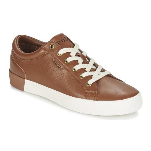 Zapatos Hombre Zapatillas bajas Ralph Lauren ALDRIC II Marrón