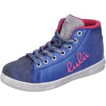 Zapatos Niña Zapatillas altas Lulu sneakers azul textil plata gamuza AH227 azul