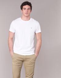 textil Hombre camisetas manga corta Gant THE ORIGINAL T-SHIRT Blanco