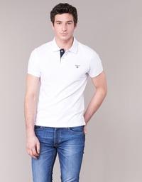 textil Hombre polos manga corta Gant CONTRAST COLLAR PIQUE Blanco