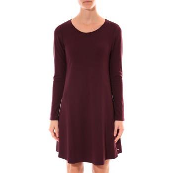 textil Mujer Vestidos cortos Coquelicot Robe   Col Rond Bordeaux 16202 Rojo