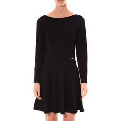 textil Mujer Vestidos cortos Coquelicot Robe  Col V Noir 16201 Negro