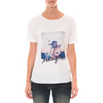 textil Mujer Camisetas manga corta Coquelicot Tee shirt   Blanc 16426 Blanco