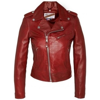 textil Mujer cazadoras Schott BLOUSON PERFECTO  Rouge LCW 1601D Rojo