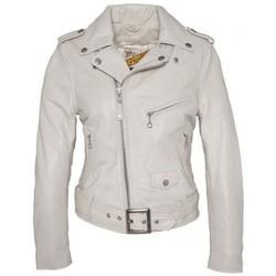 textil Mujer Chaquetas de cuero / Polipiel Schott PERFECTO FEMME  OFF WHITE LCW8600 Blanco