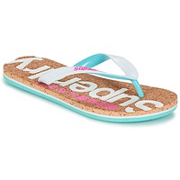 Zapatos Mujer Chanclas Superdry CORK COLOUR POP FLIP FLOP Blanco / Rosa / Azul