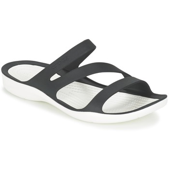 Zapatos Mujer Sandalias Crocs SWIFTWATER SANDAL W Negro / Blanco