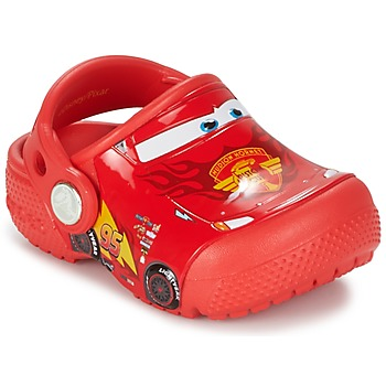 Zapatos Niño Zuecos (Clogs) Crocs Crocs Funlab Light CARS 3 Movie Clog Rojo