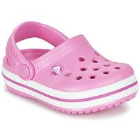 Zapatos Niños Zuecos (Clogs) Crocs Crocband Clog Kids Rosa