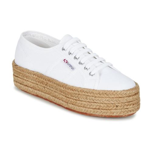 Blanco Zapatillas Bajas Mujer Bajas Mujer Zapatillas kZuPXi