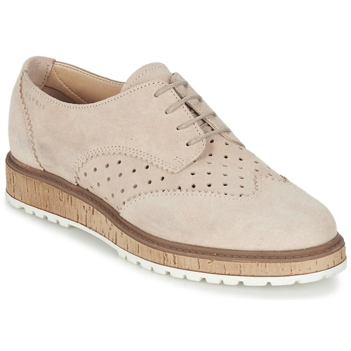 Zapatos Mujer Derbie Esprit CRISSY LACE UP Nude