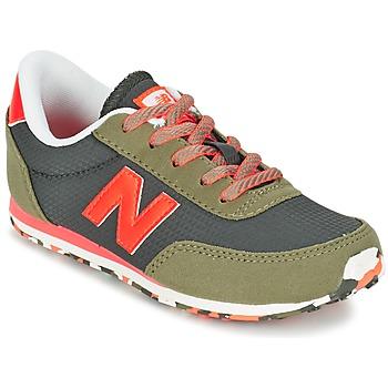 Zapatos Niños Zapatillas bajas New Balance KL410 Verde / Gris / Naranja