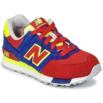 Zapatos Niños Zapatillas bajas New Balance KL574 Azul / Rojo / Amarillo