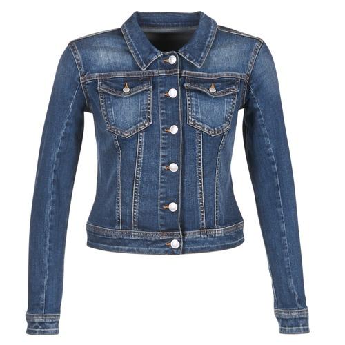 textil Mujer chaquetas denim Meltin'pot JUSTINE Azul / Oscuro