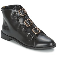 Zapatos Mujer Botines F-Troupe Triple Buckle Boot Negro
