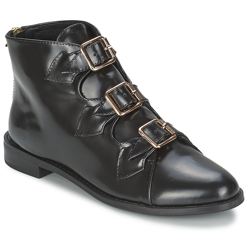 Zapatos casuales salvajes Zapatos especiales F-Troupe Triple Buckle Boot Negro