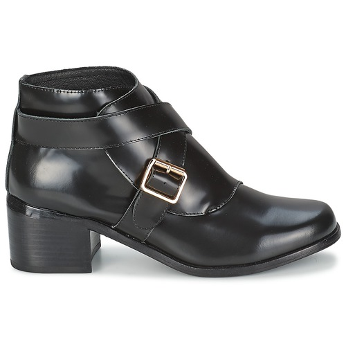 Boot Mujer Botines Buckle Zapatos Double F troupe Negro H9ID2WeEY